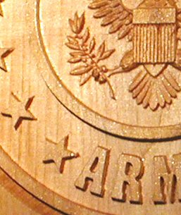 US Army Emblem Carving